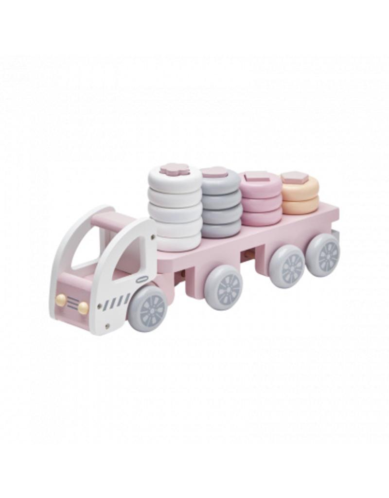 Stacking Ring Truck Pink