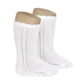 CONDOR White Side Openwork Knee-High Socks