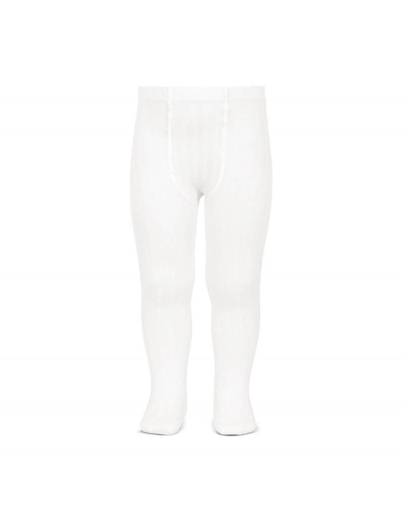CONDOR White Wide Rib Tights