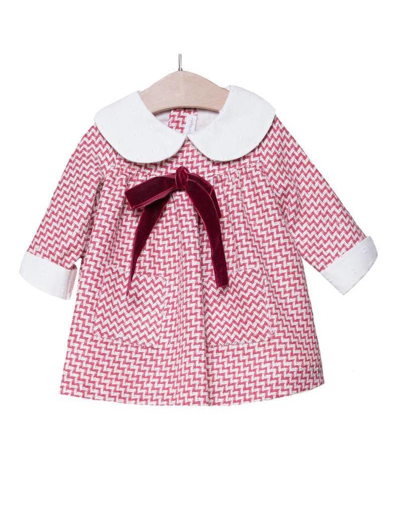 FINA EJERIQUE Red Chevron Dress
