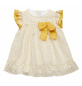 FINA EJERIQUE Mustard Polka Dot Dress