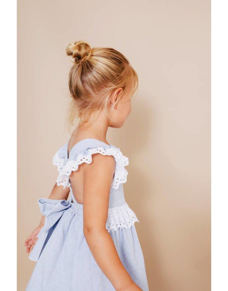 FINA EJERIQUE Pale Blue Open Back Dress