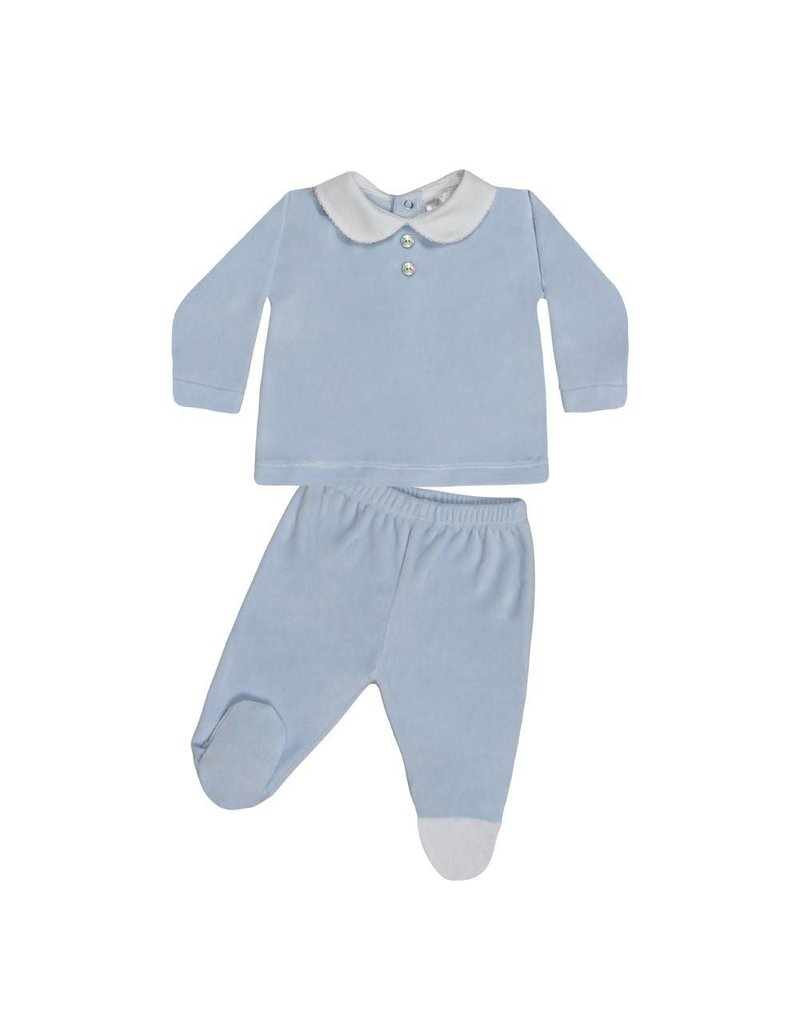 MINHON Blue Velour Set