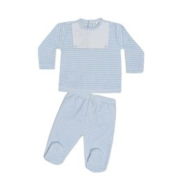 MINHON Blue & White Striped Set