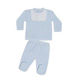 MINHON Blue & White Striped Set