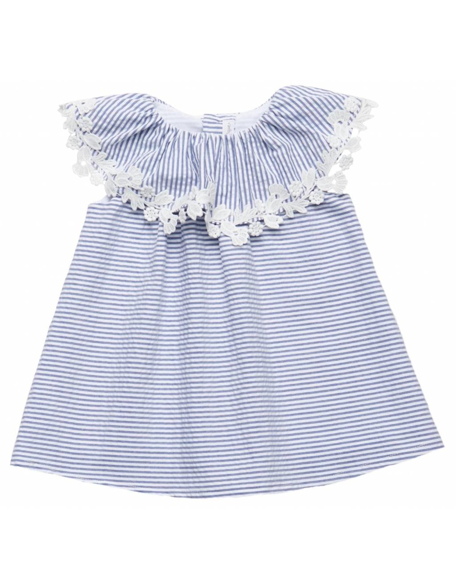 FINA EJERIQUE Blue & White Dress
