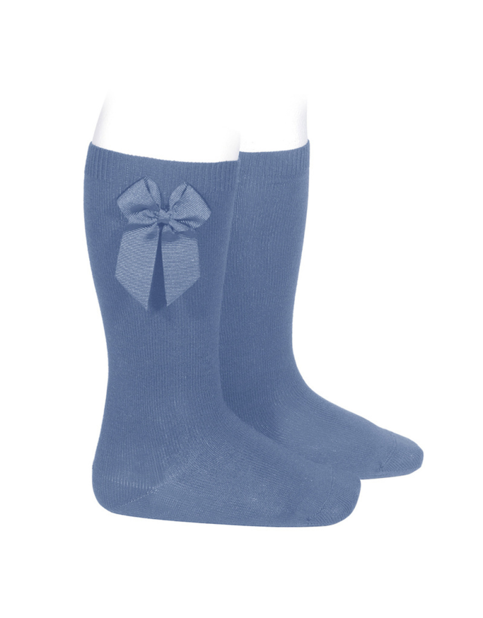 CONDOR French Blue Knee Socks  with Bow