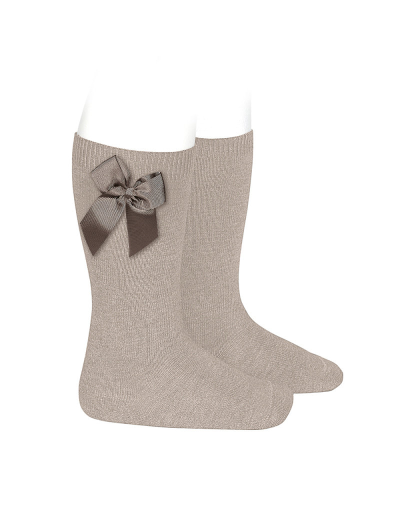 CONDOR Stone Knee-High Socks with Bow