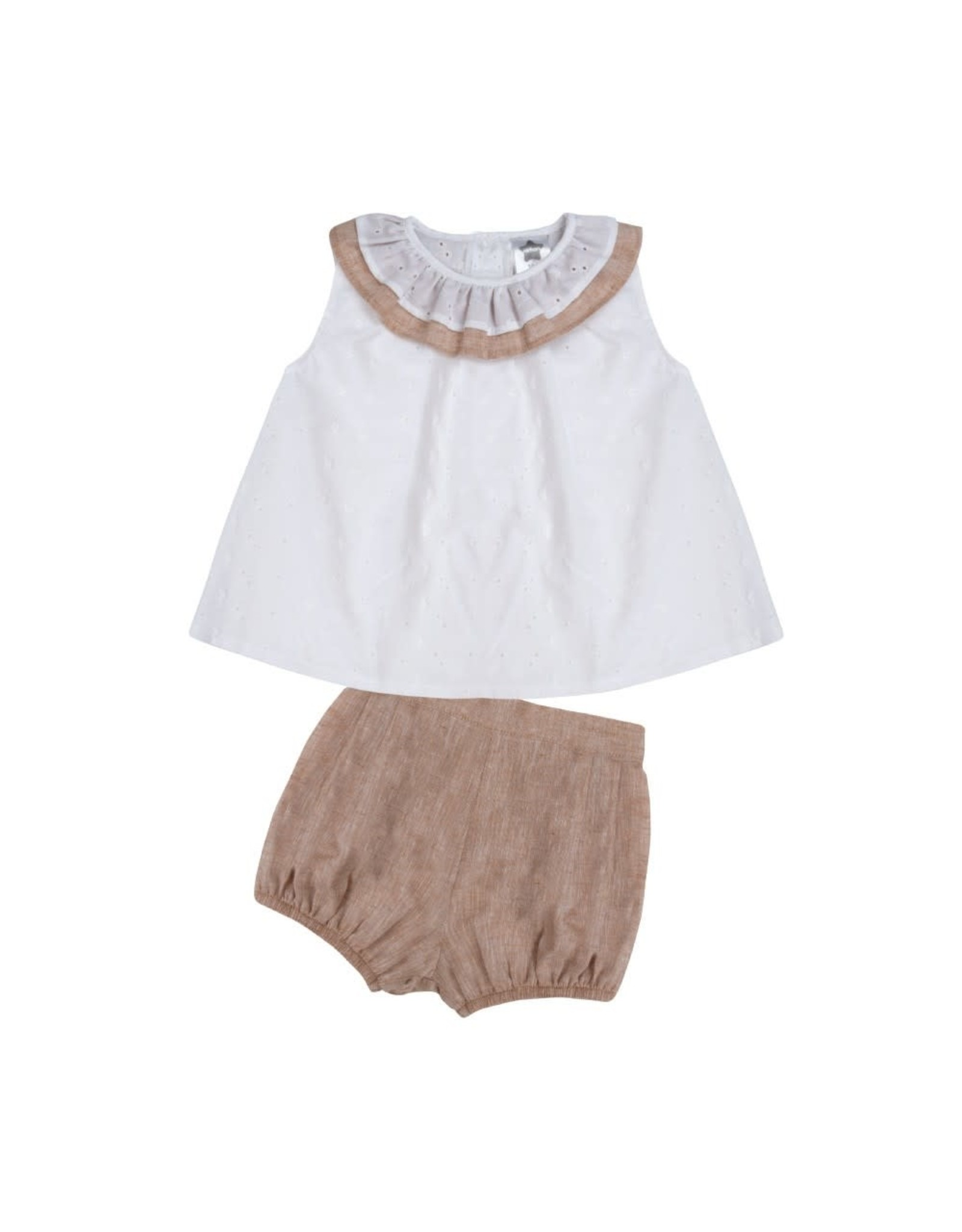 Minhon White & Camel Girls Set