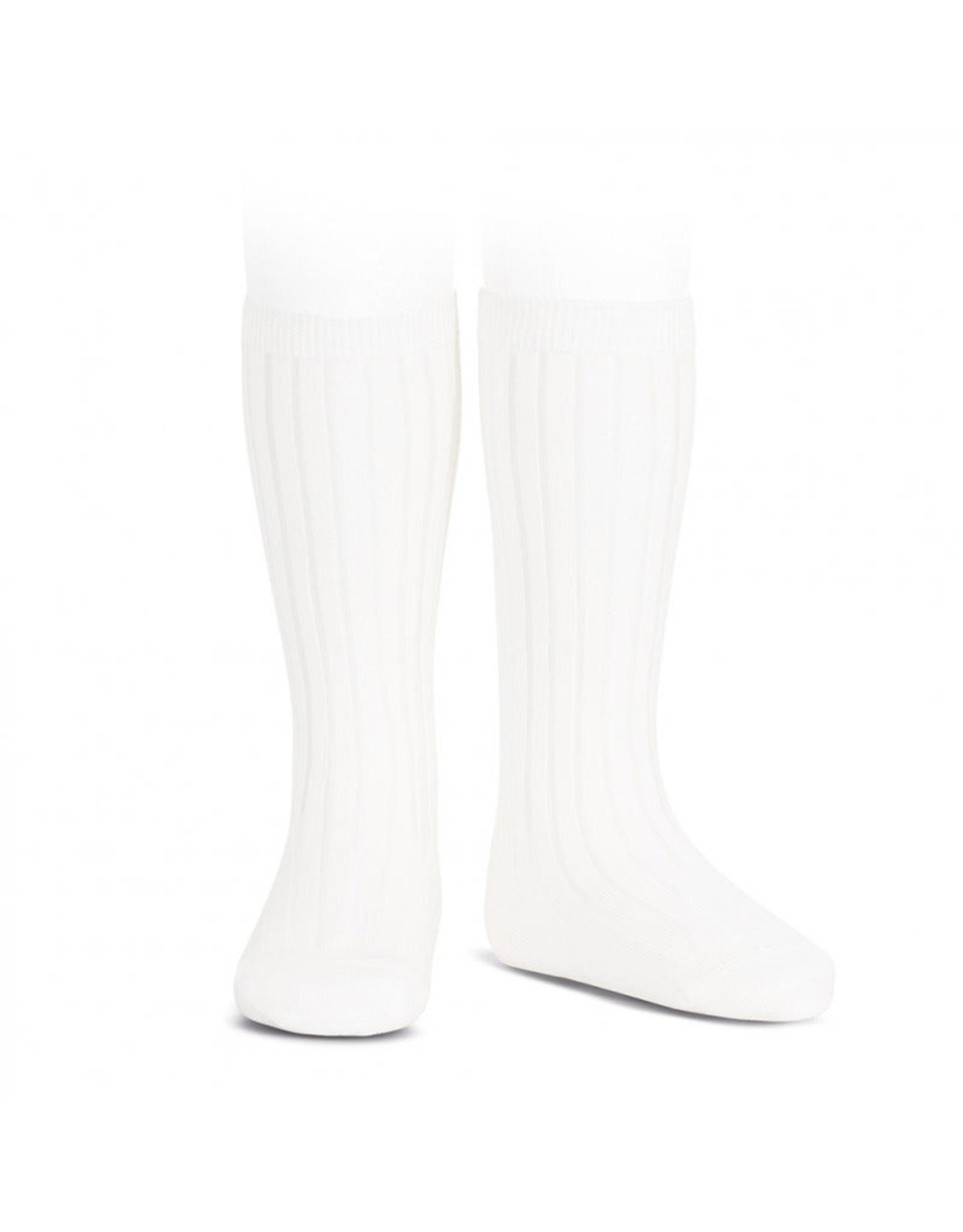 CONDOR White Rib Knee High Socks