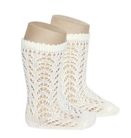 CONDOR Beige Openwork Knee High Socks