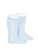CONDOR Baby Blue Openwork Socks