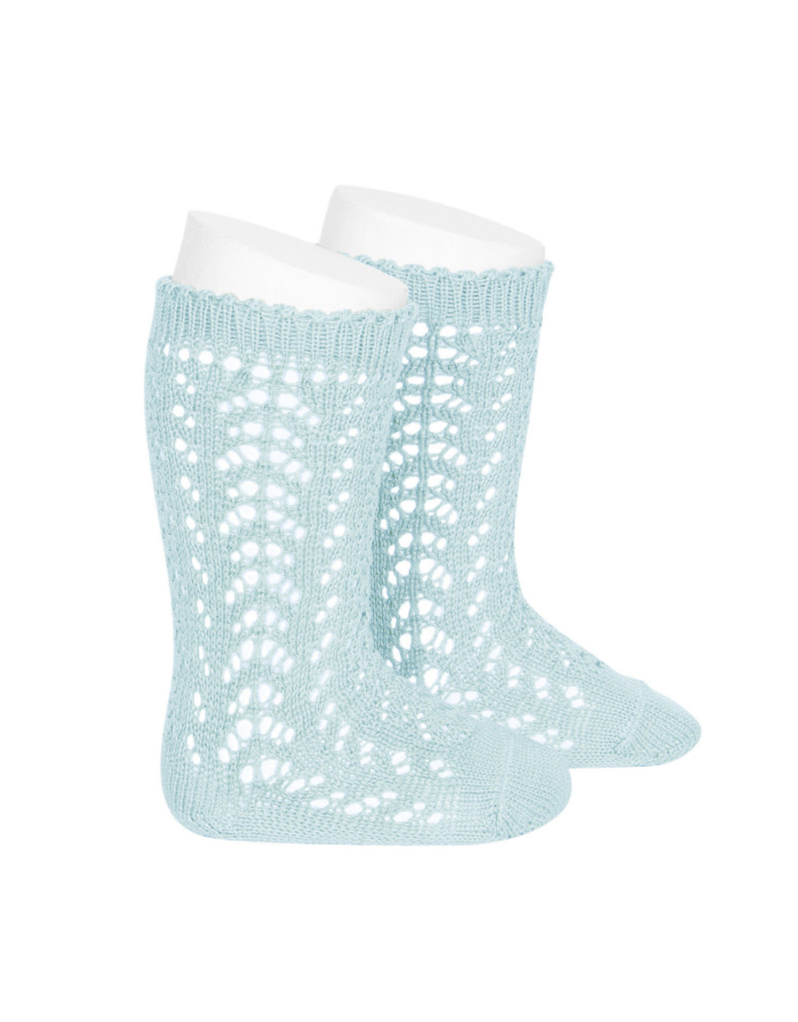 CONDOR Aquamarine Openwork Knee Socks