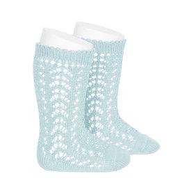 CONDOR Aquamarine Openwork Socks