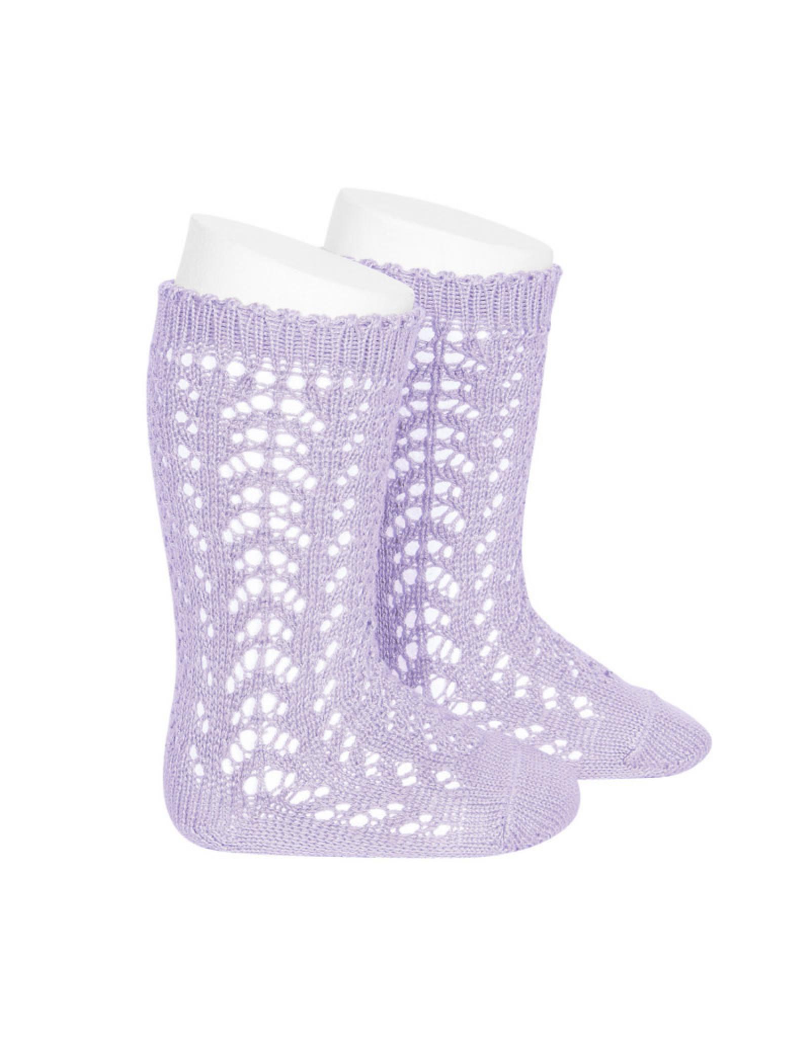 CONDOR Mauve Openwork Knee Socks