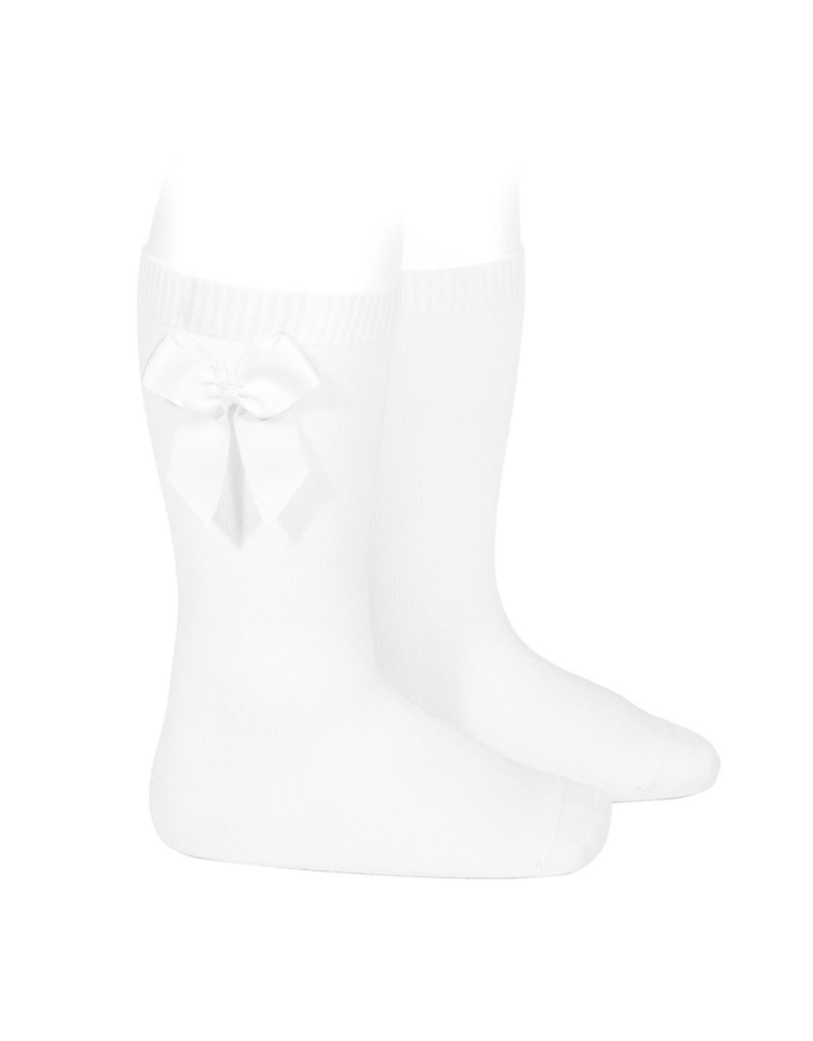 CONDOR White Knee Socks with Bow