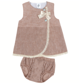Minhon Camel Dress with Bloomers