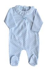 Blue & White Sleeper Frill Collar