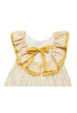 FINA EJERIQUE Mustard Polka Dot Dress