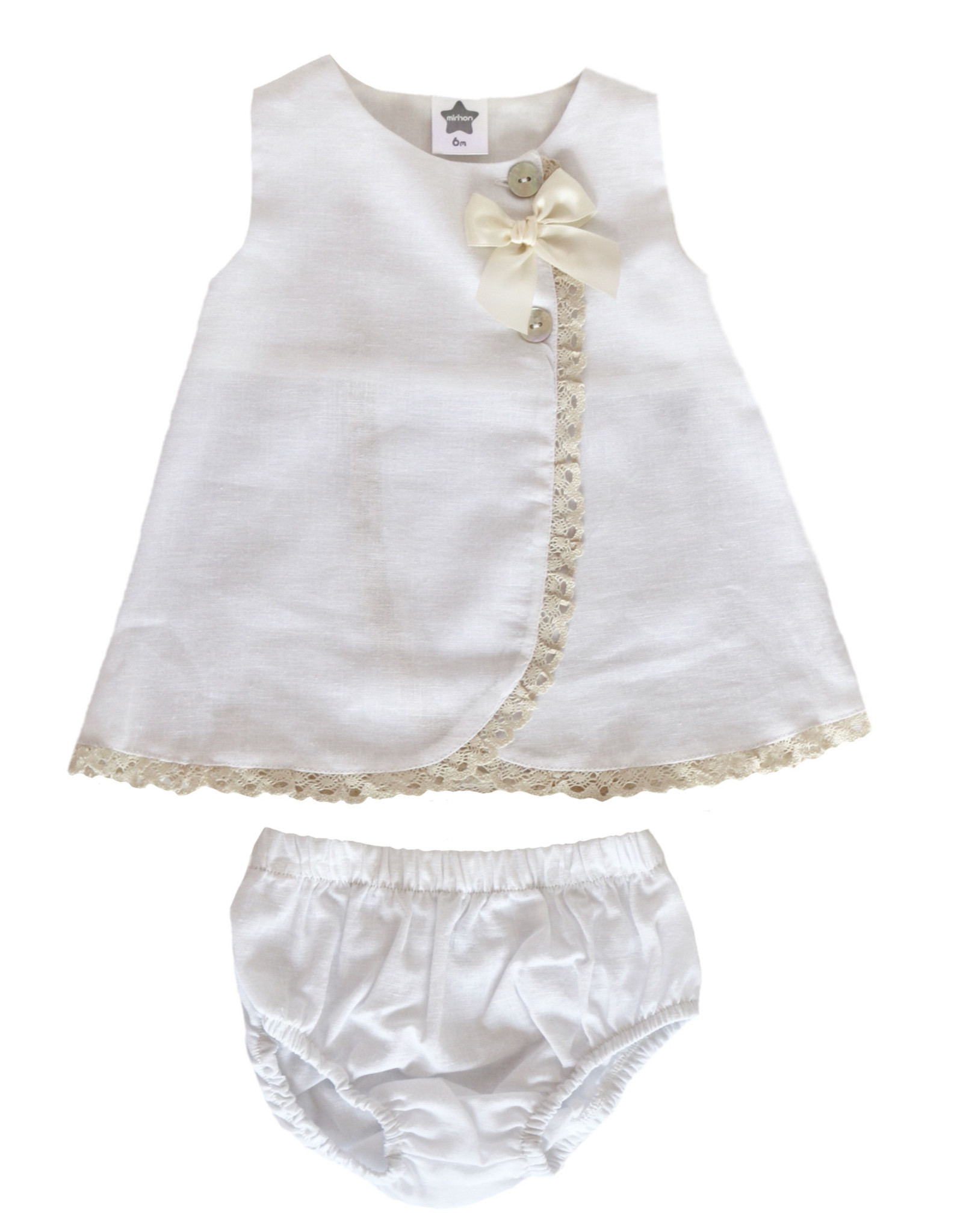 MINHON White Dress with Bloomers
