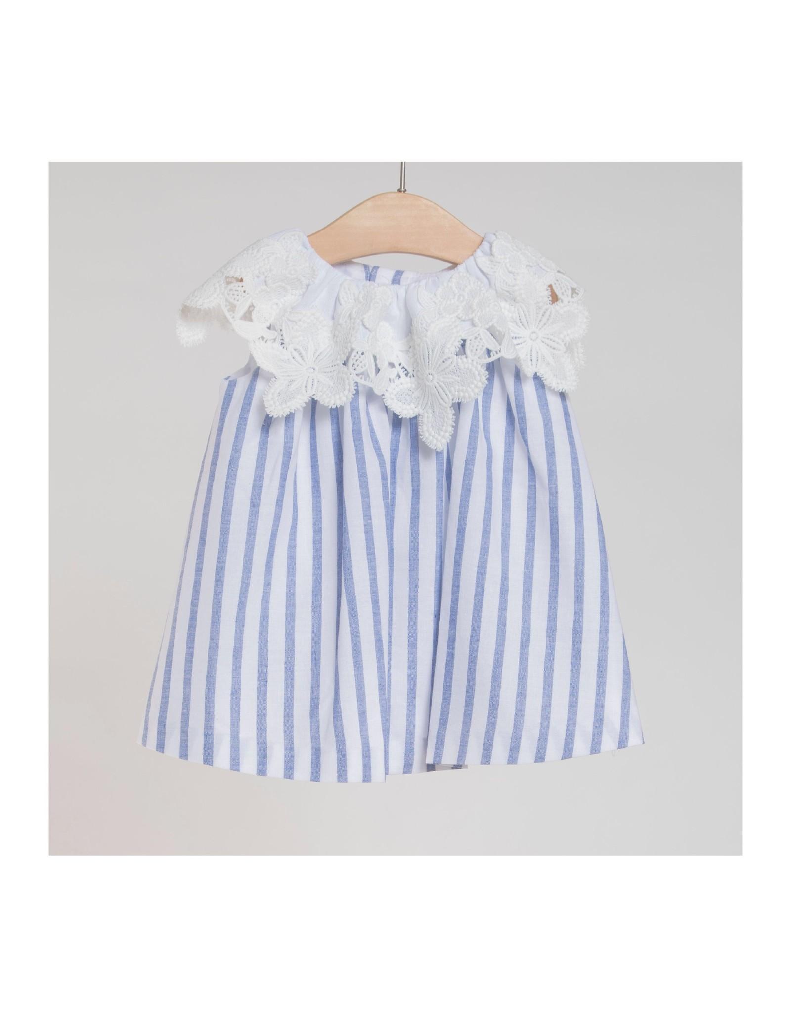 FINA EJERIQUE Blue Striped Dress