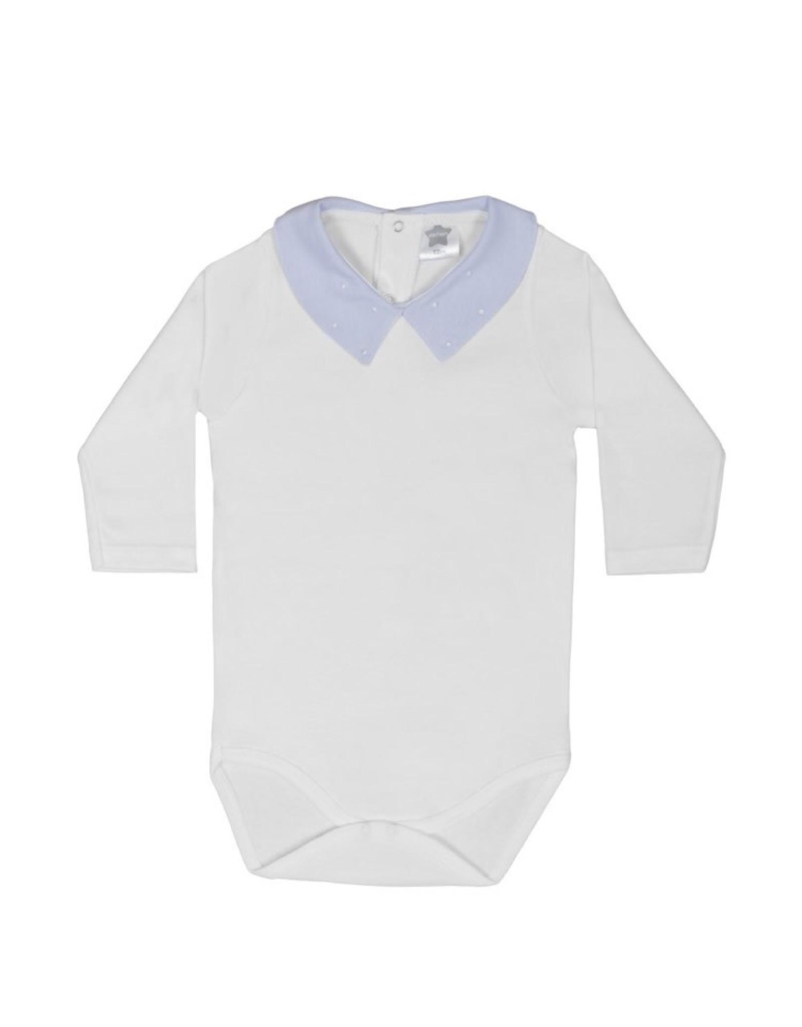 MINHON White Bodyvest with Blue Collar
