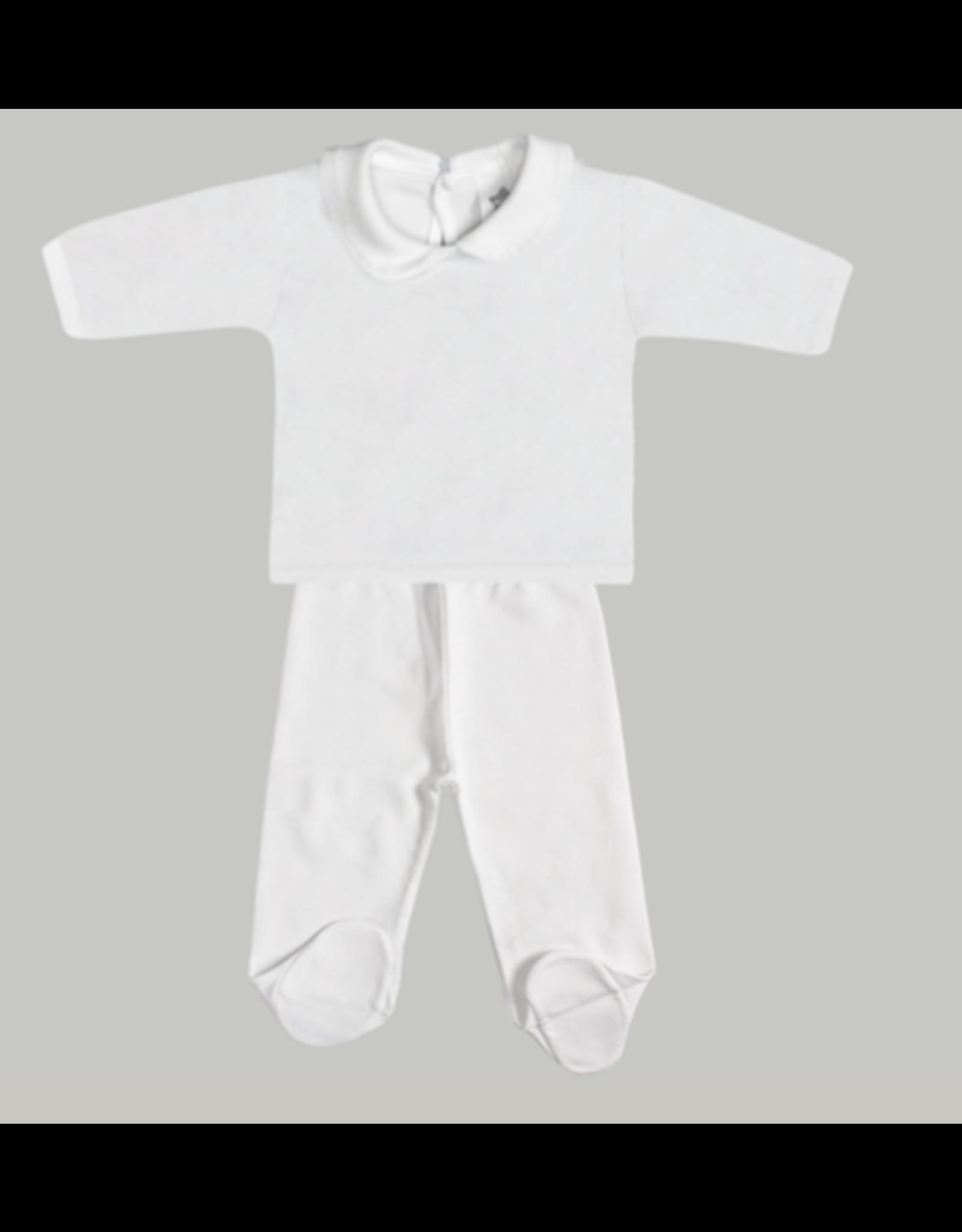 MINHON White Round Collar Set