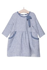 FINA EJERIQUE Girls Dusty Blue Dress