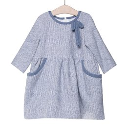 FINA EJERIQUE Girls Dusty Blue Dress