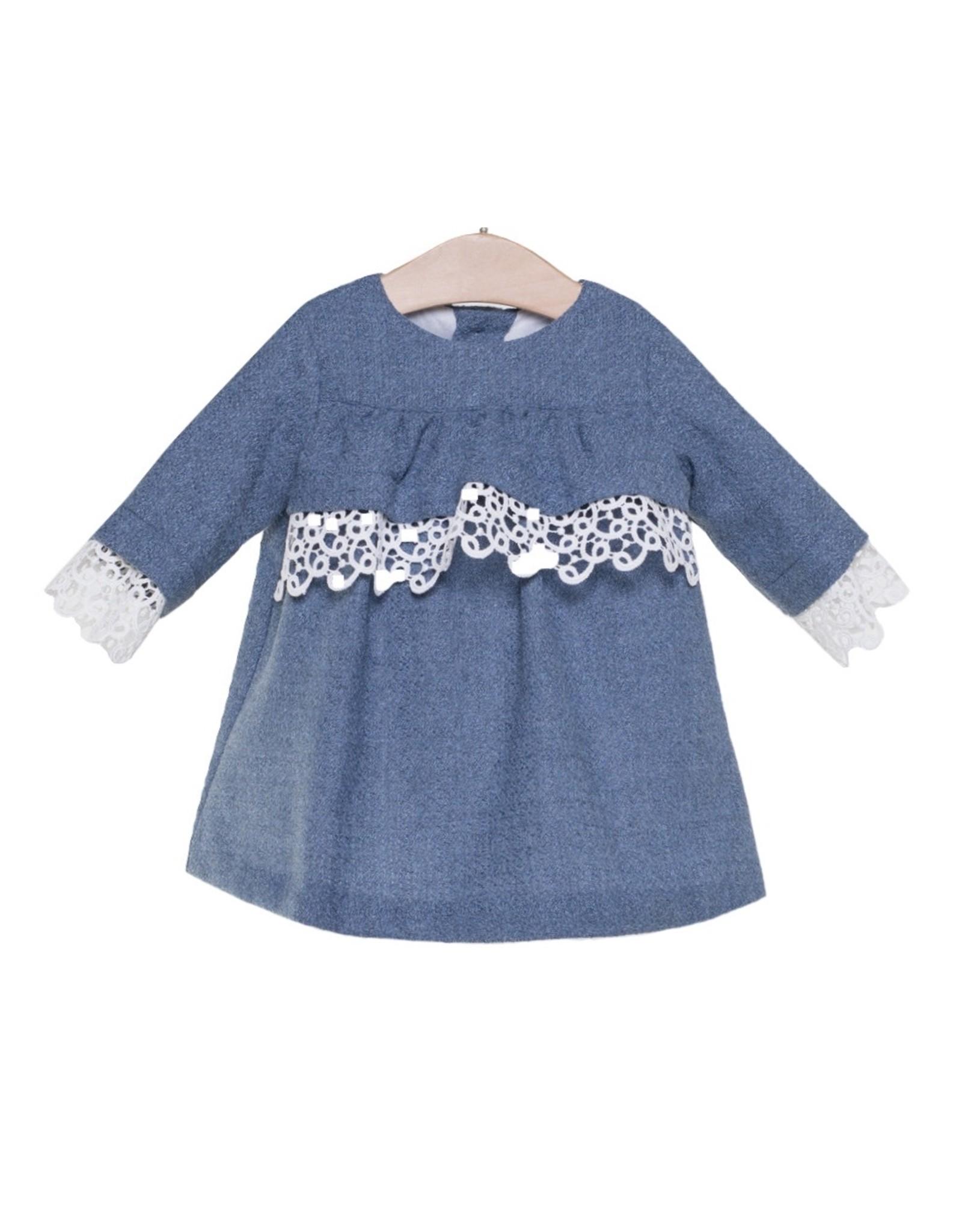 FINA EJERIQUE Girls Dark Blue Dress