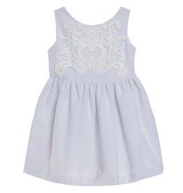 FINA EJERIQUE Blue Dress with White Lace