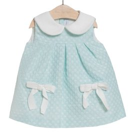 FINA EJERIQUE Mint Green dress with white Collar
