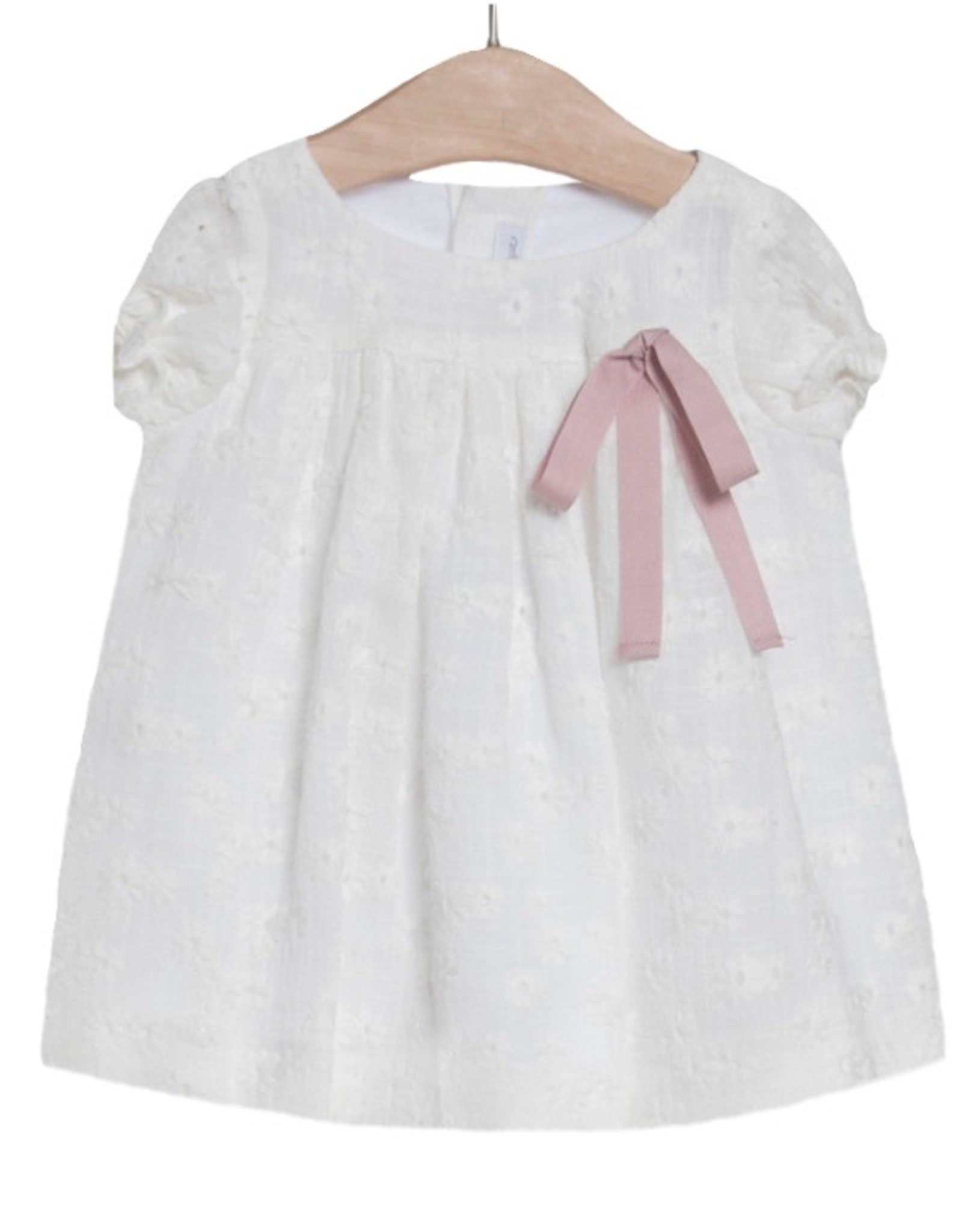 FINA EJERIQUE White Dress with Pink Ribbon