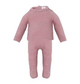 MINHON Old Pink Knitted Set