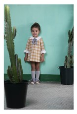 FINA EJERIQUE Grey & Mustard Check Dress