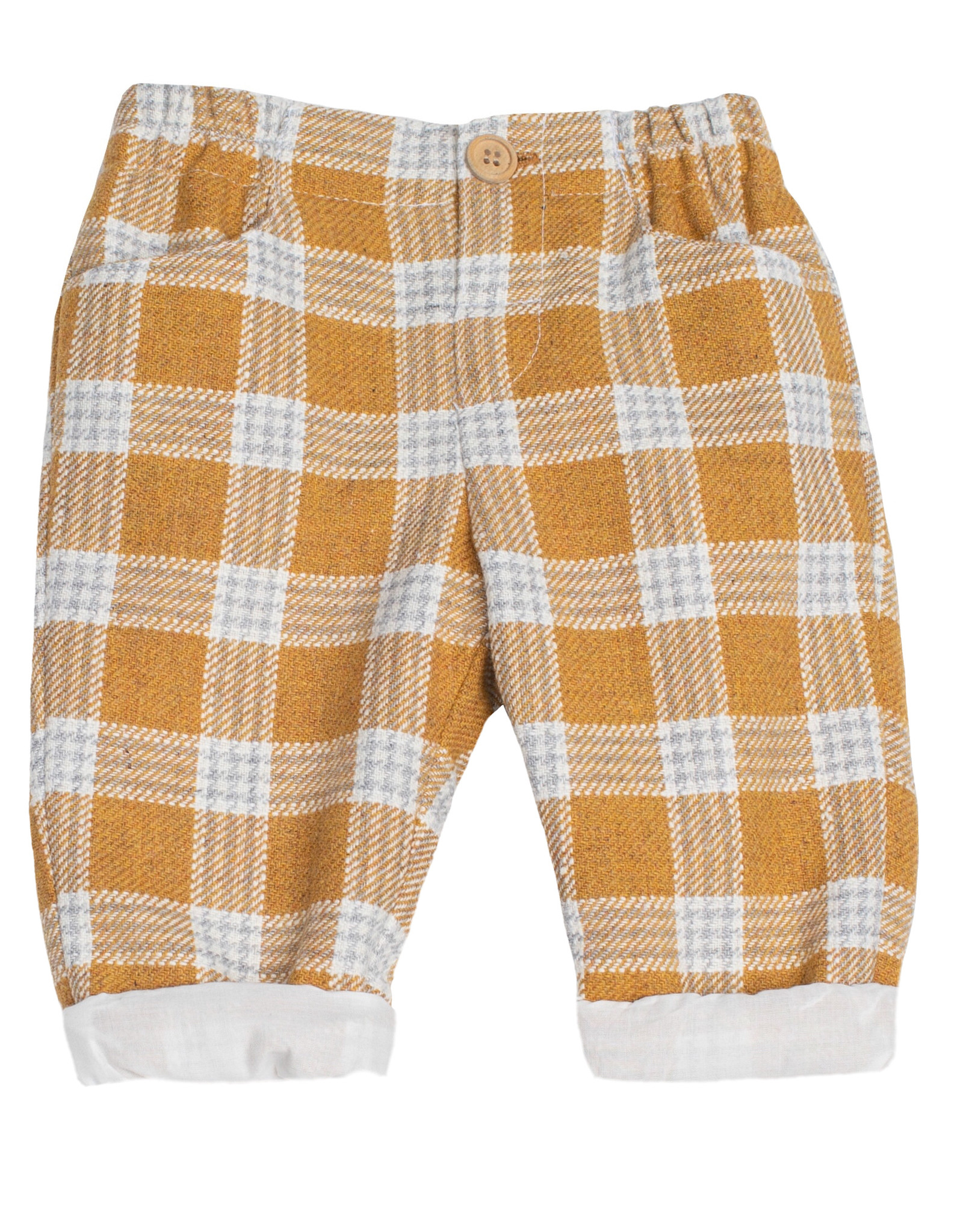 FINA EJERIQUE Grey & Mustard Check Trousers