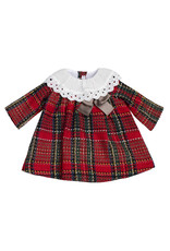 FINA EJERIQUE Red Check Dress with Frill Collar