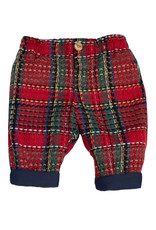 FINA EJERIQUE Red Check Trousers