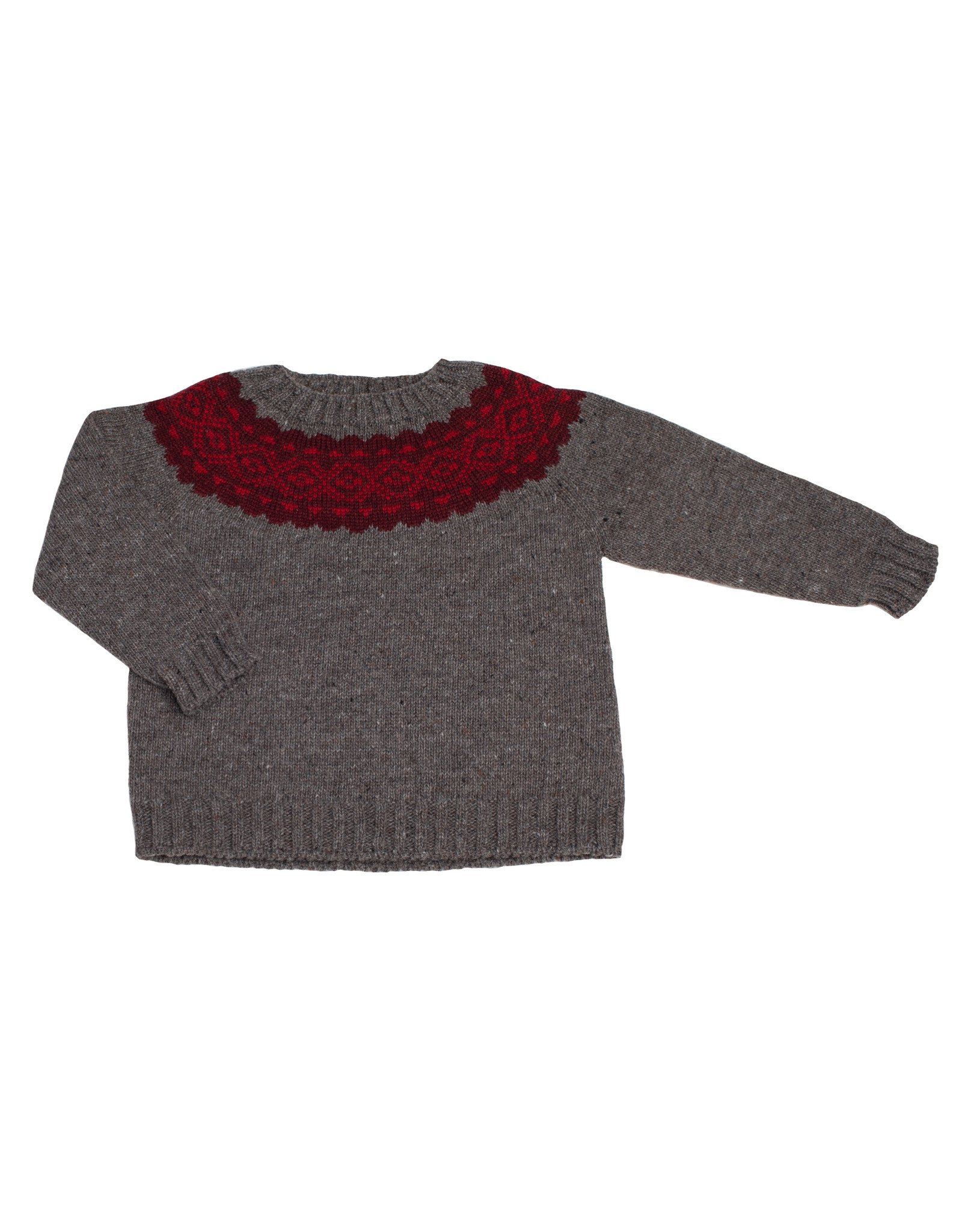 FINA EJERIQUE Grey & Red Sweater