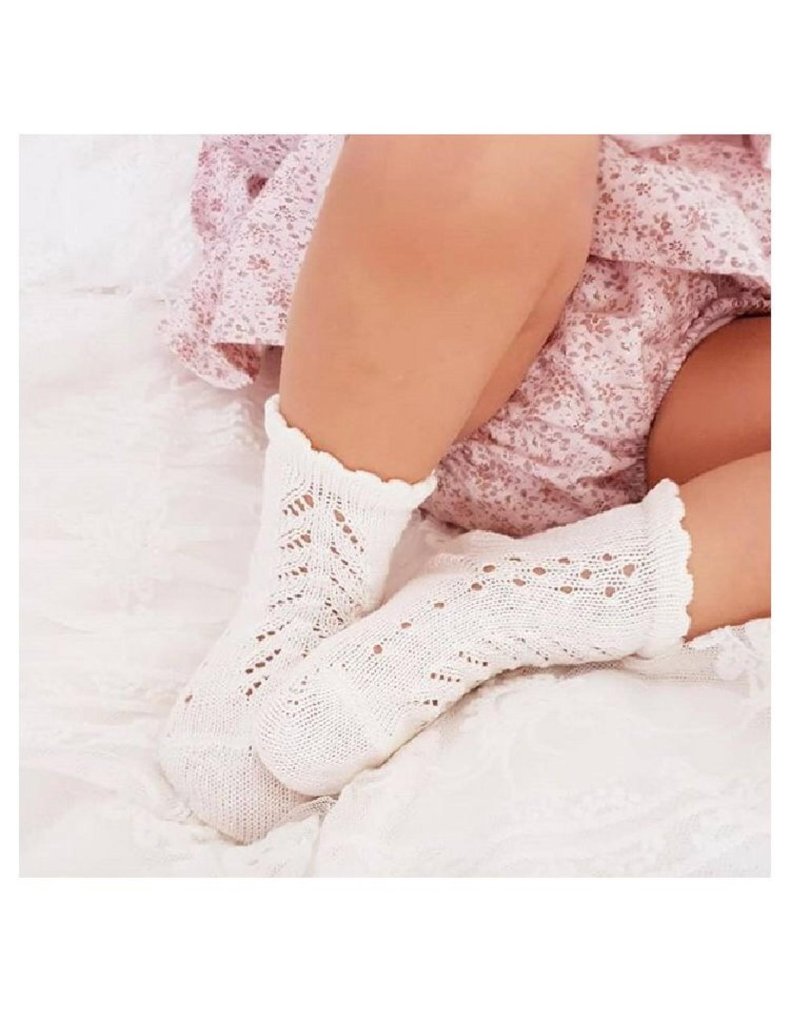CONDOR White Openwork Ankle Socks