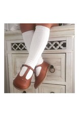 CONDOR Cream Ribbed Knee Socks