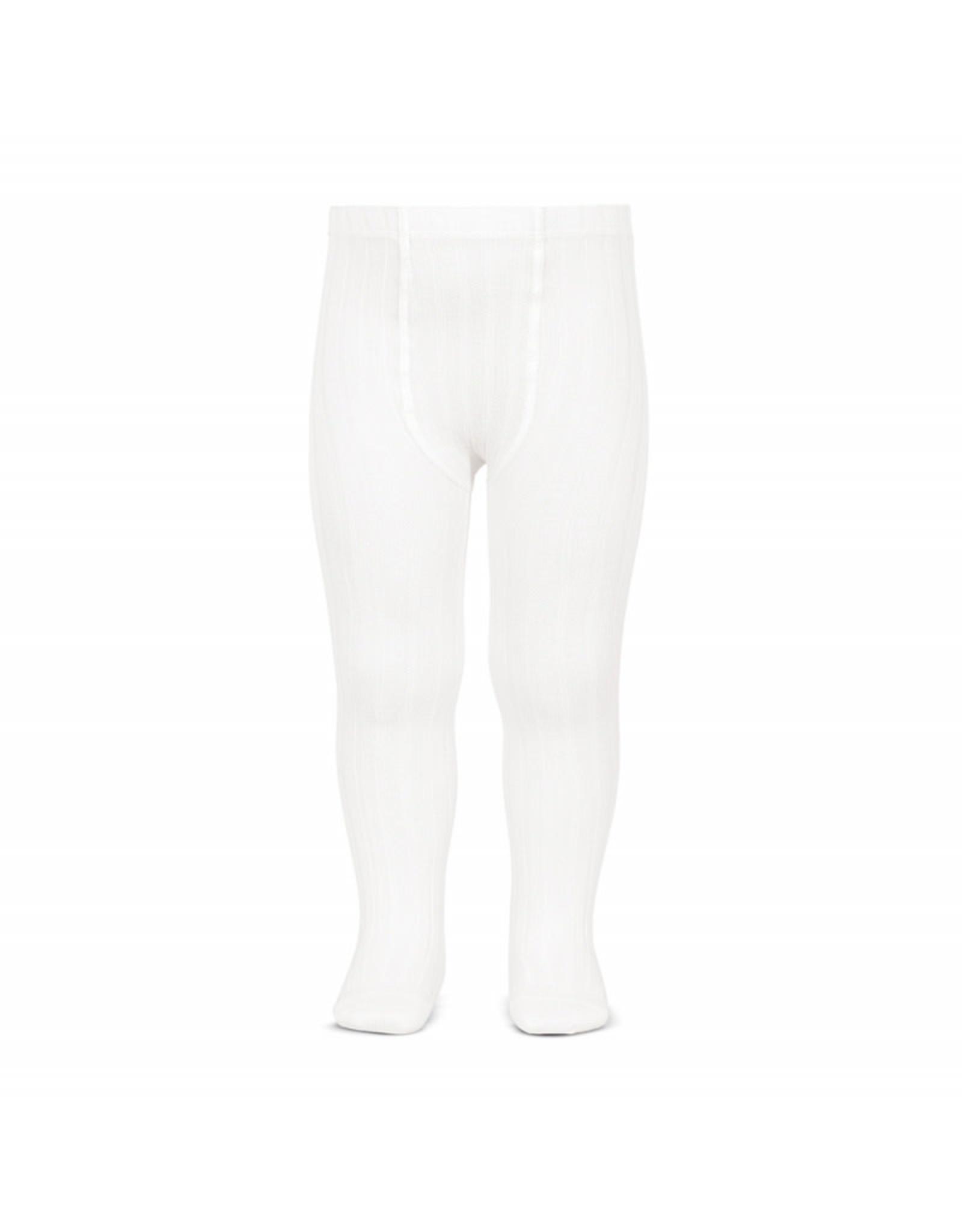 CONDOR White Rib Tights
