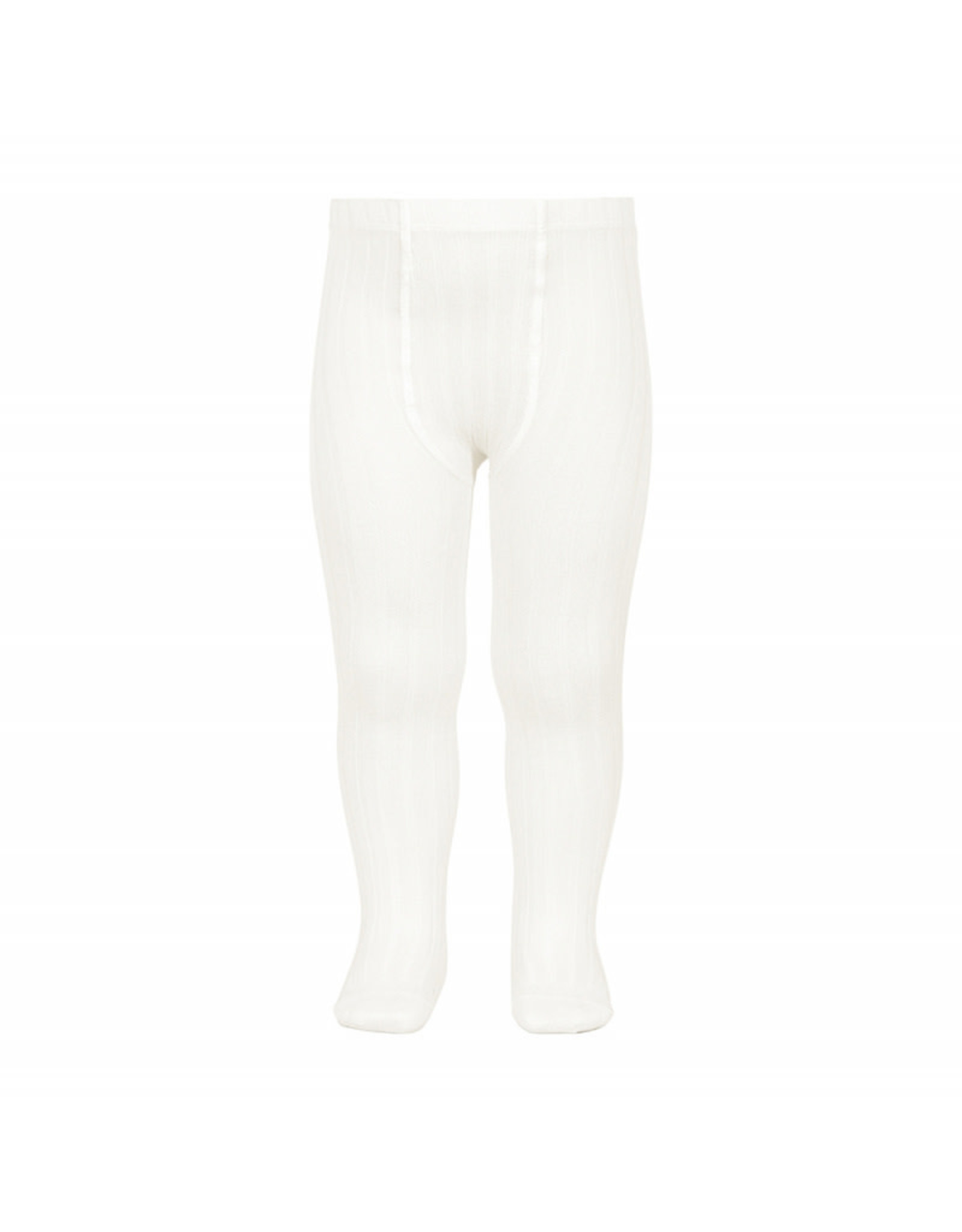 CONDOR Cream Ribbed Tights