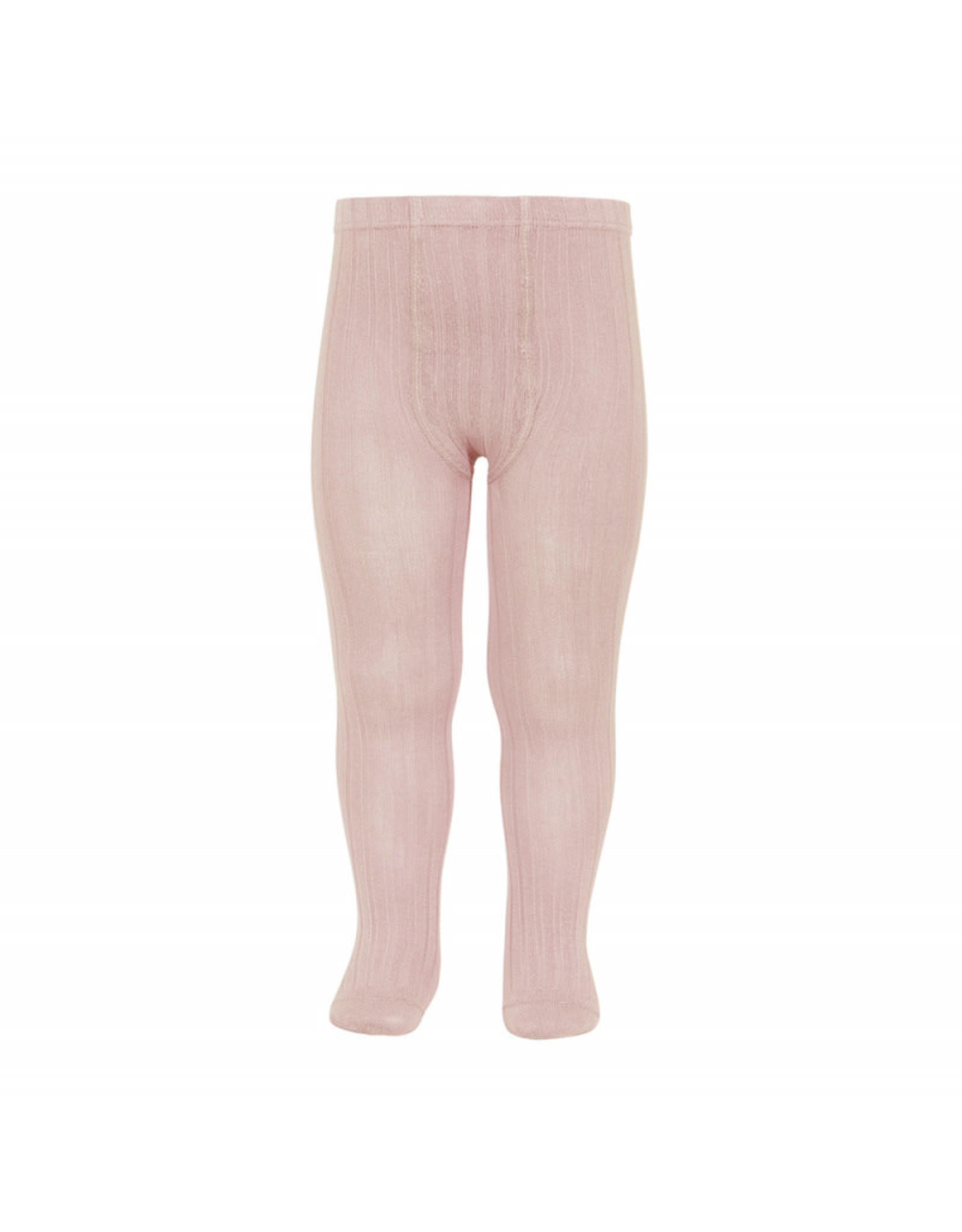 CONDOR Old Rose Ribbed Tights