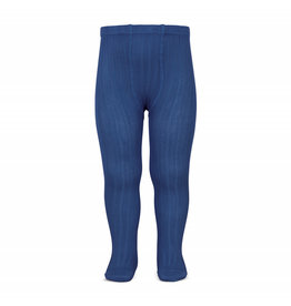 CONDOR Indigo Blue Ribbed Tights