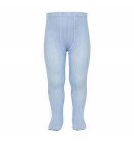 CONDOR Light Blue Ribbed Tights