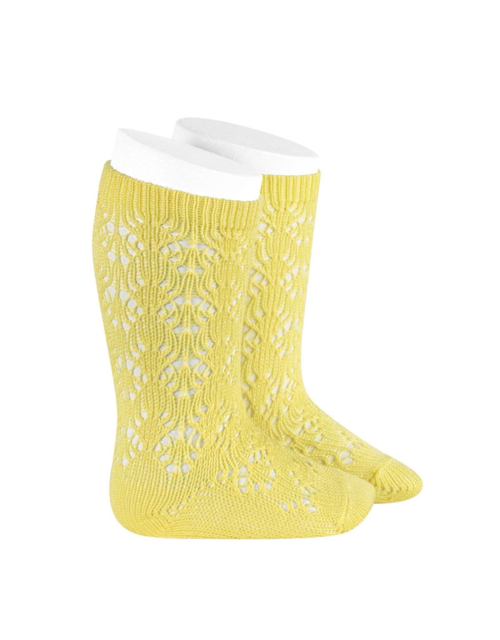 CONDOR Limoncello Geometric Openwork Socks