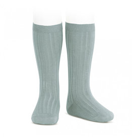 CONDOR Dry Green Ribbed Knee Socks