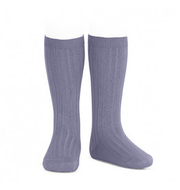 CONDOR Lavender Ribbed Knee Socks