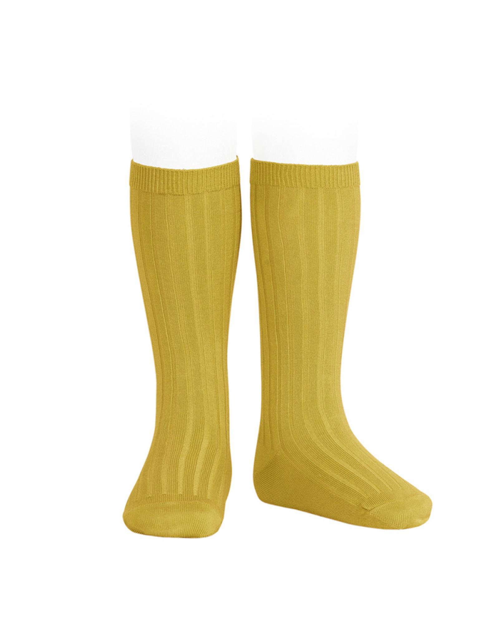 CONDOR Curry Rib Knee High Socks